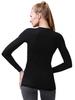Теплое термобелье из шерсти мериноса для женщин Norveg (Норвег) Soft  черное-меланж