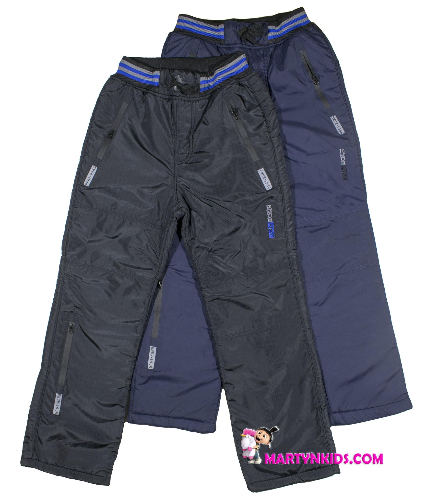 035 зима штаны три замка  теплые