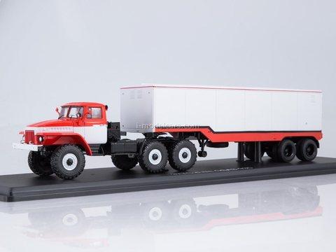 Ural-377S with semi-trailer ODAZ-935 1:43 Start Scale Models (SSM)