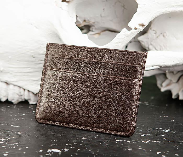 BC219-2 Тонкий кожаный кардхолдер (чехол для карточек), «Atos» фото 03