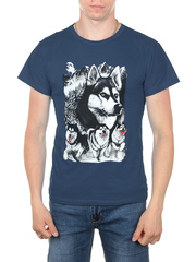 11112-4 футболка мужская, темно-синий