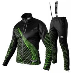 Утеплённый лыжный костюм 905 Victory Code Quantum Black-Green мужской