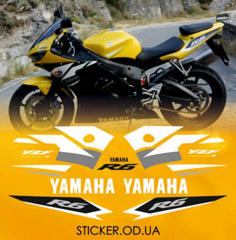 Набор виниловых наклеек на мотоцикл YAMAHA YZF-R6 2003