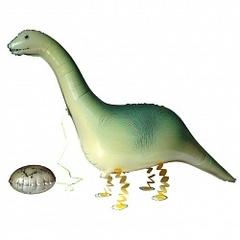 Шар (46''/117 см) Ходячая Фигура, Динозавр с яйцом, 1 шт.