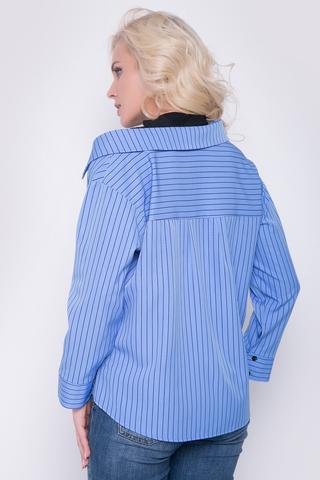<p>Хит сезона! Рубашка ассиметричного кроя с модным элементом двухслойности. Рукав 7/8 на манжете. Имитация застежки по переду.Длина изделия по спинке :44р.-52р. = 61см.-63см.</p>