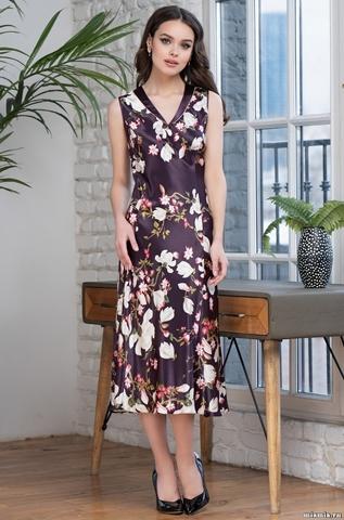 Длинная ночная сорочка Mia Amore Magnolia 3528 (75% шелк)