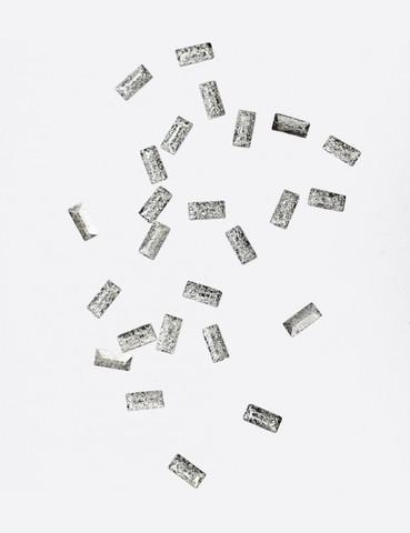 ARTEX Полусферы прямоугольные граненные шлифованные серебро 1,5х3 мм