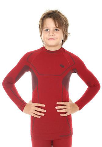 Термобелье рубашка детская Brubeck Thermo (LS11460) бордо для мальчиков