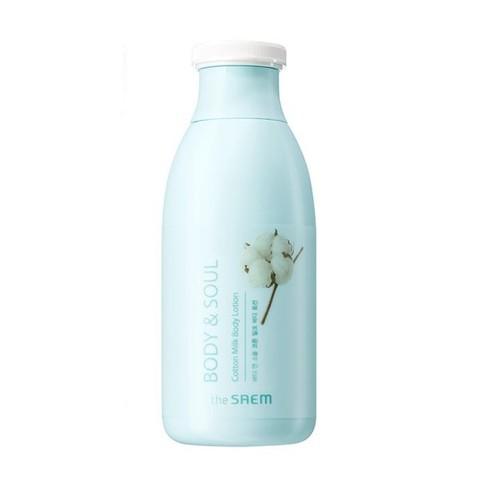The Saem Лосьон для тела молочный Body & Soul Cotton Milk Body Lotion, 300 мл