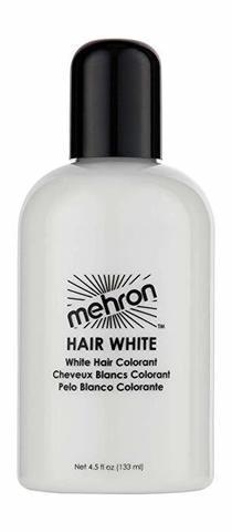 MEHRON Краска для волос Makeup Hair White, Белая, 133 мл