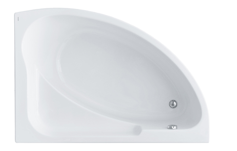 Акриловая ванна Santek Гоа 150х100 R асимметричная белая 1WH112032