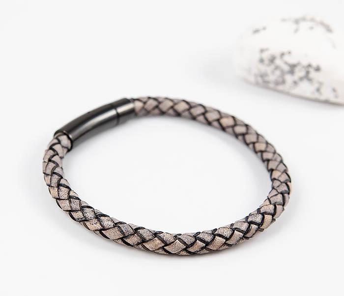 BM517-3 Мужской браслет шнур из натуральной кожи фото 03