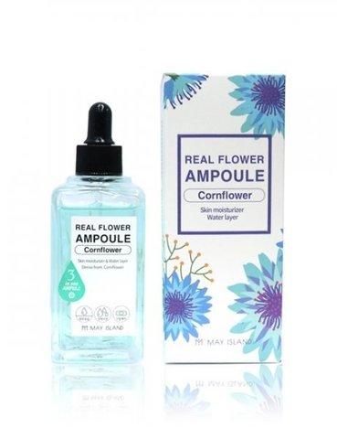 MAY ISLAND Real Flower Ampoule Cornflower Сыворотка для лица  100мл