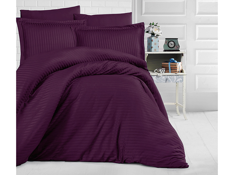 Постельное белье Clasy Stripe Satin purple евро