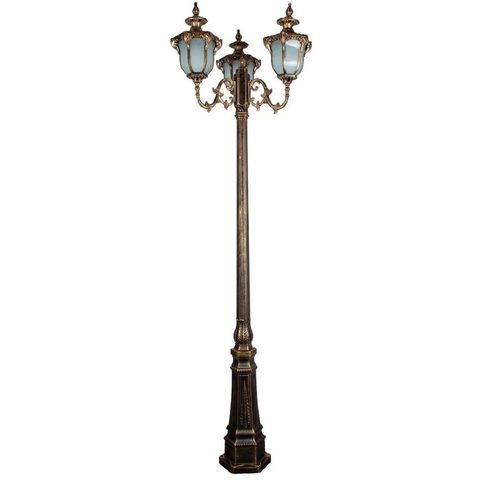 Светильник садово-парковый, 3*60W 230V E27 IP44 черное золото, PL4059 (Feron)