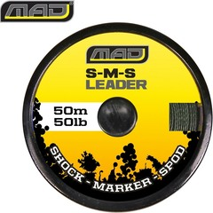 Снаг лидер плетеный MAD S-M-S LEADER / 70lb / 50m / GREEN