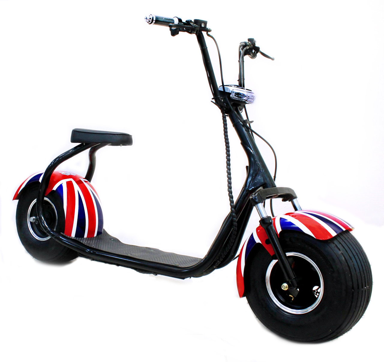 Seev Citycoco Британский Флаг + Bluetooth-музыка - Электросамокат взрослый, артикул: 865825