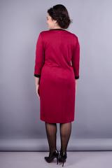 Винтаж. Нарядное женское платье плюс сайз. Бордо.