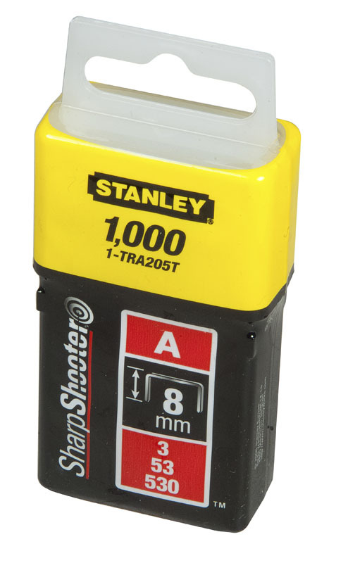 "Скоба для степлера   8мм тип ""А"" (5/53/530) 1000 штук  Stanley 1-TRA205T"