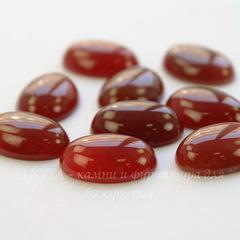 Кабошон овальный Агат Красный 18х13х5,5 мм