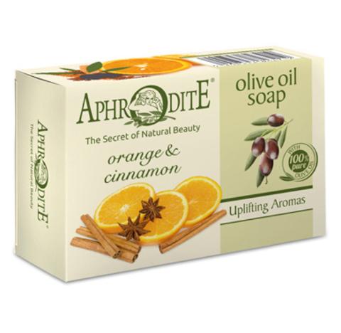 Оливковое мыло с маслом апельсина и корицей, Aphrodite