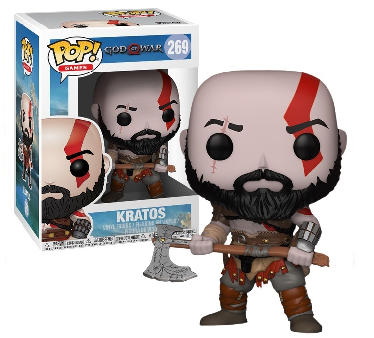 - Kratos Pop God of War 2018 Vinyl Figure NEW Funko