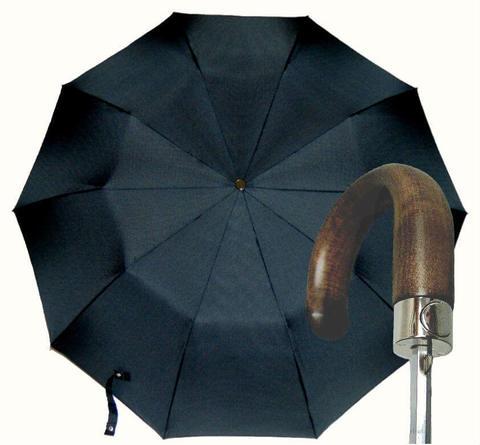 Купить онлайн Зонт складной Guy de Jean 7036-squ Poignee Bois в магазине Зонтофф.