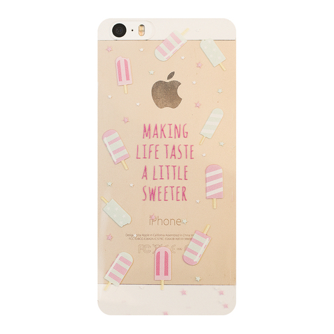 Чехол на Iphone 5/5s Ice-cream Mint and Pink