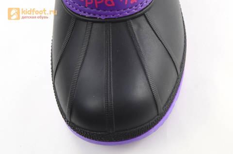 Зимние сапоги для девочек непромокаемые с резиновой галошей Свинка Пеппа (Peppa Pig), цвет сиреневый, Water Resistant. Изображение 9 из 15.