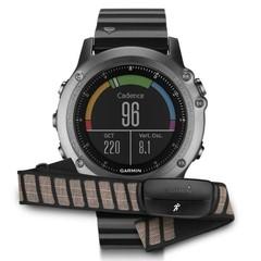Спортивные смарт часы Garmin Fenix 3 Sapphire серые с металлическим браслетом (с датчиком) 010-01338-26