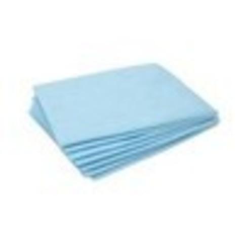 Простынь 80х200, голубая, стандарт (50 шт)