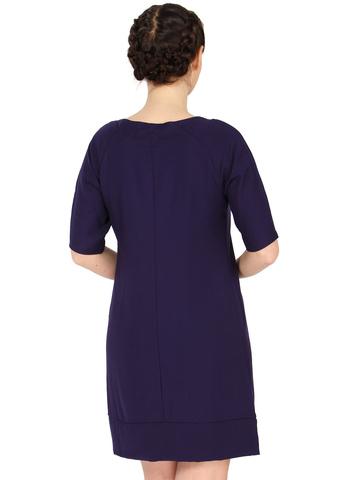 Платье ПШ03 фиолет для беременных и кормящих