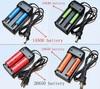 Двойное зарядное устройство для литий-ионных аккумуляторов типа  18650; 26650; 18500; 17670; 14500; 16340