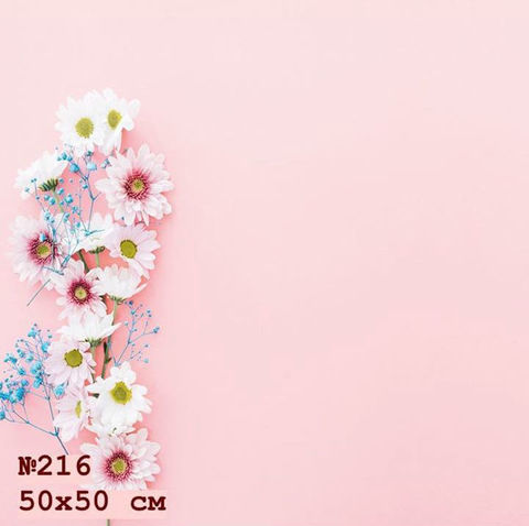 Фотофон виниловый «Розовые цветы» №216