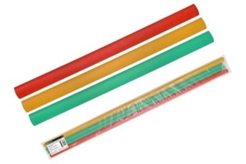 Трубки термоусаживаемые, набор 3 цвета по 3 шт. ТТкНГ(3:1)-25,4/8,5 TDM