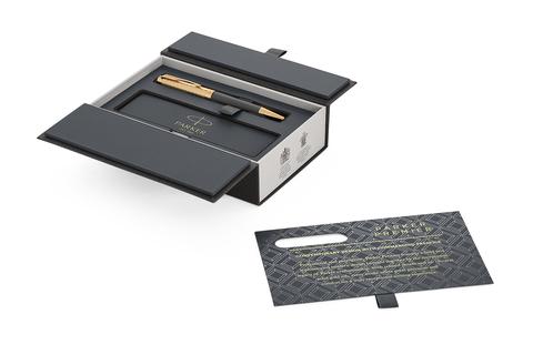 Шариковая ручка Parker Premier  Storm Grey, K561, Deep Grey GT, MBlack123