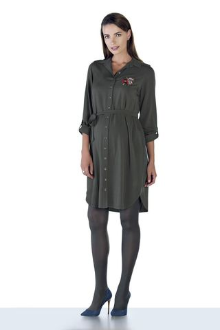 Платье 09044 зеленый