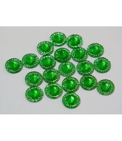 135 стразы круглые зеленые 20 шт