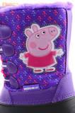 Зимние сапоги для девочек непромокаемые с резиновой галошей Свинка Пеппа (Peppa Pig), цвет сиреневый, Water Resistant. Изображение 12 из 15.
