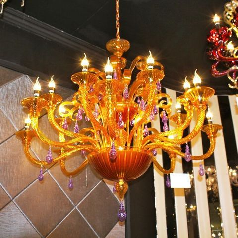 murano chandelier  SYLCOM 12-10  by Arlecchino Arts ( HK)