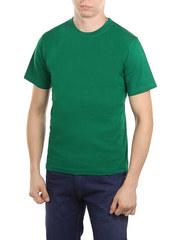 5105-2 футболка мужская, зеленая
