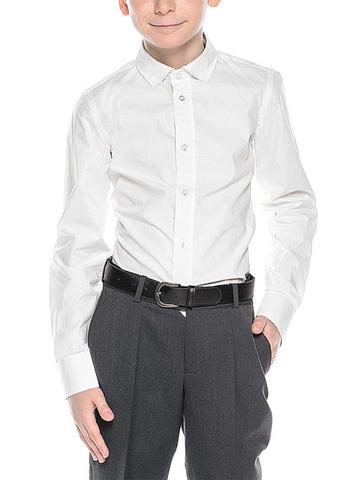 JS616P1  рубашка для мальчиков, белая
