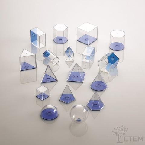 Набор геометрических фигур, 17 шт., Edx education