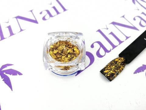 Фольга для дизайна ногтей голографическая (золото)