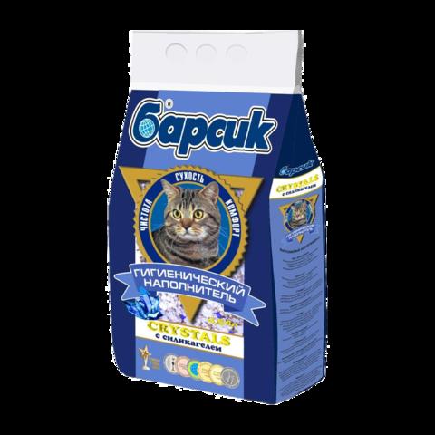Барсик Crystals Наполнитель для туалета кошек силикагелевый