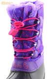 Зимние сапоги для девочек непромокаемые с резиновой галошей Свинка Пеппа (Peppa Pig), цвет сиреневый, Water Resistant. Изображение 13 из 15.