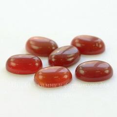 Кабошон овальный Агат красный 14х10х5 мм