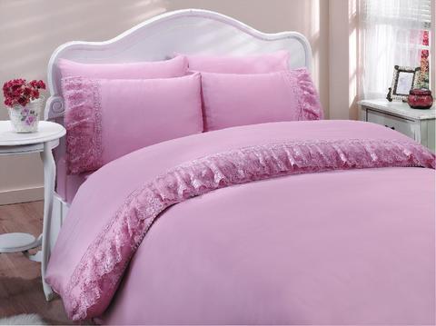 Постельное белье Gelin Home Neslisah  темно-розовый евро