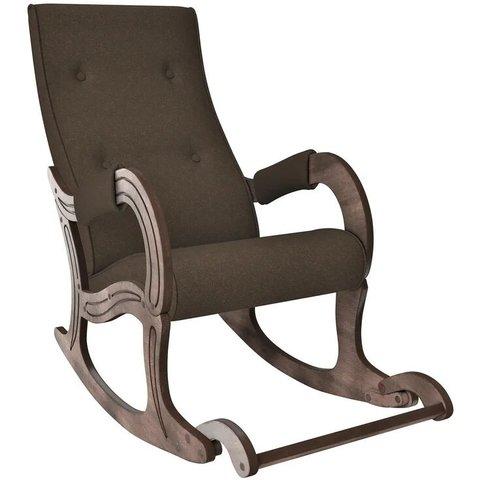 Кресло-качалка Комфорт Модель 707 орех антик/Malta 15, 013.707
