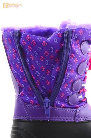 Зимние сапоги для девочек непромокаемые с резиновой галошей Свинка Пеппа (Peppa Pig), цвет сиреневый, Water Resistant. Изображение 14 из 15.